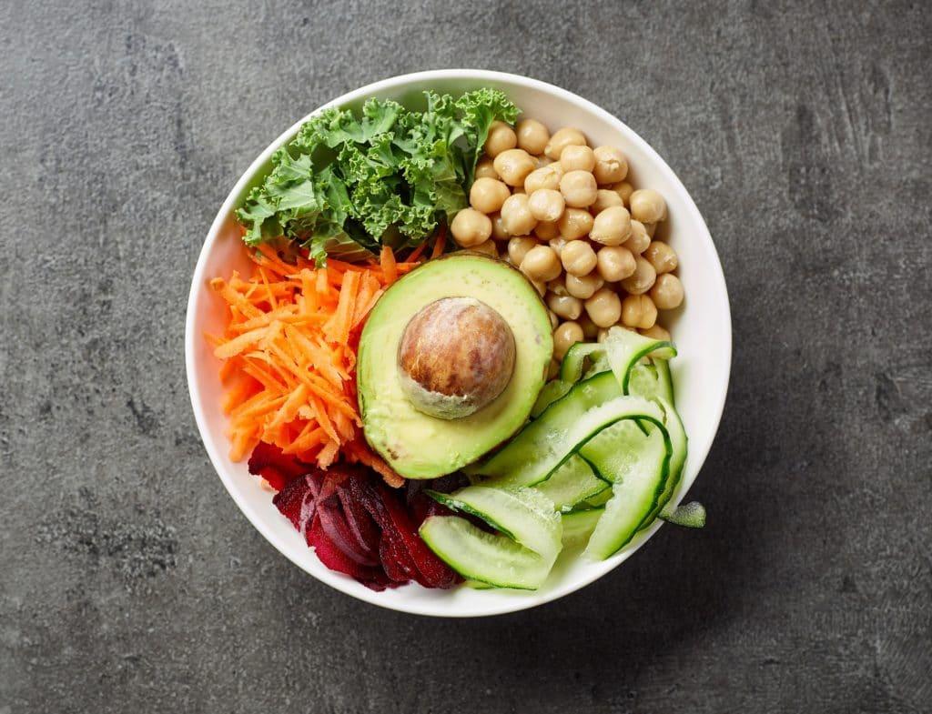 Breakfast vegan bowl